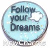 H1235 Follow your Dreams Floating Locket Charm