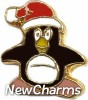 H1407 Christmas Penguin Floating Locket Charm