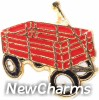 H1457 Red Wagon Floating Locket Charm