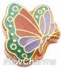 H1632 Colorful Butterfly Floating Locket Charm