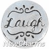 H3505 Laugh Silver Circle Floating Locket Charm