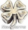 H4014 Four Leaf Clover Silver Floating Locket Charm