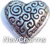 H4031 Decorative Heart Floating Locket Charm