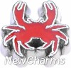 H4100 Red Crab Floating Locket Charm