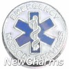 H4225 Emergency Medical Services Circle Floating Locket Charm