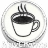 H4540 Black And White Coffee Cup Floating Locket Charm