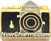 H1651gold Camera In Gold Floating Locket Charm