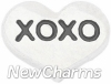 H5108 XOXO Silver Heart Floating Locket Charm