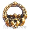 H6213 Vintage Gold Claddagh Heart Floating Locket Charm