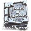 H6219 Vintage Silver Book Of Mormom Floating Locket Charm