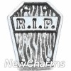 H6229 RIP Coffin Floating Locket Charm