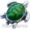 H6254 Green Turtle Floating Locket Charm