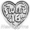 H7195 Silver Sweet 16 Floating Locket Charm