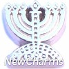 H7771 Menorah Floating Locket Charm
