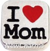 H7810 I Love Mom Square Floating Locket Charm