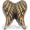 H7860 Gold Vintage Wings Floating Locket Charm
