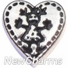 H7873 Stitch Heart Girl Floating Locket Charm