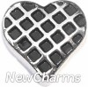H7878 Checkered Heart Floating Locket Charm