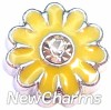 H7923 Big Yellow Daisy Floating Locket Charm