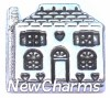 H8001 Silver House Floating Locket Charm
