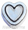 H8060 Silver Cutout Heart Floating Locket Charm
