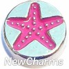H8112 Pink Starfish Floating Locket Charm