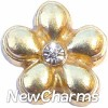 H8203 Gold Flower Floating Locket Charm