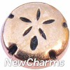 H8208 Rose Gold Sanddollar Floating Locket Charm