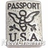 H8268 Passport Floating Locket Charm
