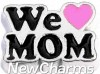 H8285 We Love Mom Pink Heart Floating Locket Charm