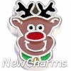 H8290 Rudolph Floating Locket Charm