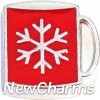 H8291 Red Snowflake Mug Floating Locket Charm