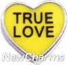 H8308 True Love Yellow Candy Heart Floating Locket Charm
