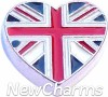 H8341 Union Jack Flag Floating Locket Charm