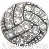 H8348 Silver Bling Volleyball Floating Locket Charm