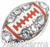 H8350 Silver Bling Football Floating Locket Charm