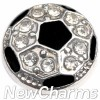 H8351 Silver Bling Soccer Floating Locket Charm
