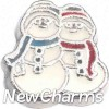 H9102 Snowman Buddies Floating Locket Charm