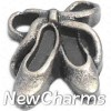 H9112 Silver Ballet Shoes Floating Locket Charm