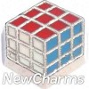 H9115 Rubiks Cube Toy Floating Locket Charm