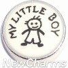 H9702 My Little Boy Floating Locket Charm