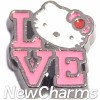 H9739 Love With Hello Kitty Floating Locket Charm