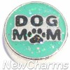 H9747 Dog Mom Silver Trim Floating Locket Charm