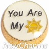 H9748 You Are My Sunshine Floating Locket Charm