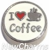 H9758 I Love Coffee Floating Locket Charm