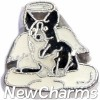 H9774 Cardigan Welsh Corgi Angel Dog Floating Locket Charm