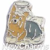 H9775 Yorkshire Terrier Angel Dog Floating Locket Charm