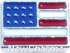 H9812 USA Flag Floating Locket Charm