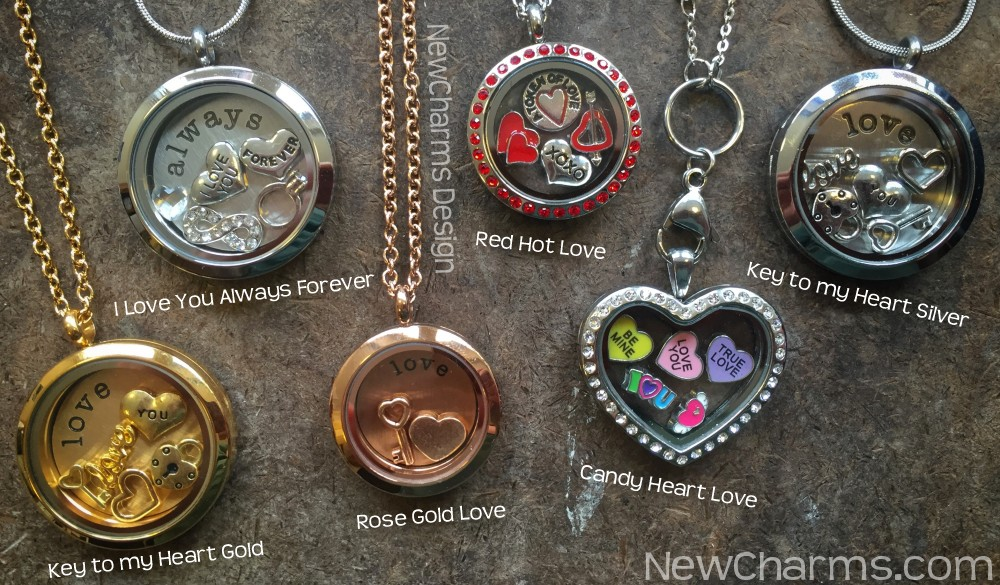 Love and Heart Valentines Day Floating Lockets