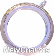 VR20 Versatile Loose Rose Gold Medium Round Locket